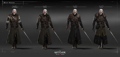 Geralt's Armor Progression.