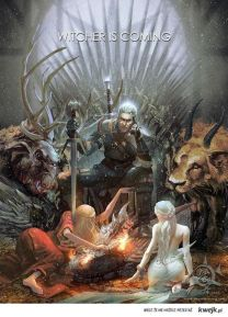 This is some amazing Witcher fan art done in the style of Game of Thrones.